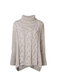 hellbeige Strick Oversize Pullover von N.Peal