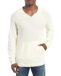 hellbeige Strick Pullover mit einem Kapuze