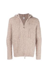 hellbeige Strick Pullover mit einem Kapuze von Eleventy
