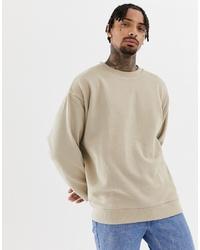 hellbeige Sweatshirt von ASOS DESIGN