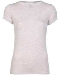hellbeige T-Shirt mit einem Rundhalsausschnitt