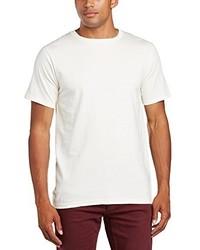 hellbeige T-Shirt mit einem Rundhalsausschnitt von Anvil