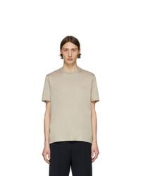 hellbeige T-Shirt mit einem Rundhalsausschnitt von Brioni