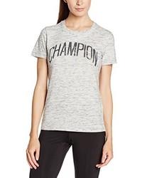 hellbeige T-Shirt mit einem Rundhalsausschnitt von Champion
