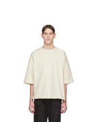 hellbeige T-Shirt mit einem Rundhalsausschnitt von Jil Sanderand