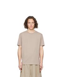 hellbeige T-Shirt mit einem Rundhalsausschnitt von Maison Margiela