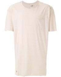 hellbeige T-Shirt mit einem Rundhalsausschnitt von OSKLEN