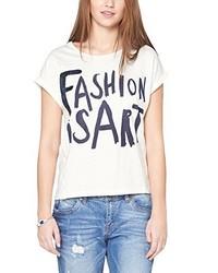 hellbeige T-Shirt mit einem Rundhalsausschnitt von s.Oliver