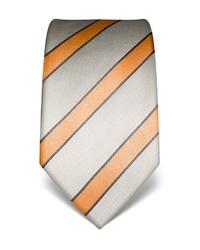hellbeige vertikal gestreifte Krawatte von Vincenzo Boretti