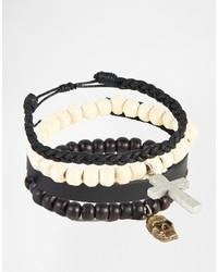 hellbeige Perlen Armband von Asos