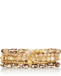 hellbeige verziert mit Perlen Armband von Chan Luu