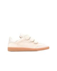 hellbeige Wildleder niedrige Sneakers von Isabel Marant