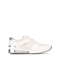 hellbeige Wildleder niedrige Sneakers von MICHAEL Michael Kors