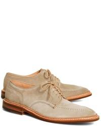 hellbeige Wildleder Oxford Schuhe