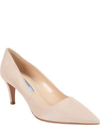 hellbeige Wildleder Pumps