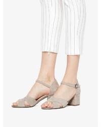 hellbeige Wildleder Sandaletten von Bianco