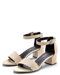 hellbeige Wildleder Sandaletten von Lascana