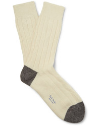 hellbeige Wollsocken von Paul Smith