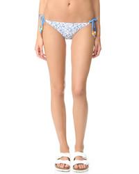 hellblaue bedruckte Bikinihose von Stella McCartney