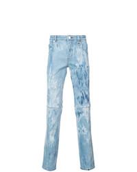 hellblaue bedruckte Jeans von Icosae