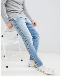 hellblaue bedruckte Jeans von Jack & Jones