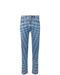 hellblaue bedruckte Jeans von Kappa