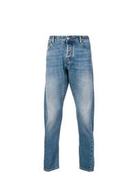 hellblaue bedruckte Jeans von Marcelo Burlon County of Milan