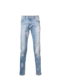 hellblaue bedruckte Jeans von Represent