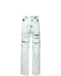 hellblaue bedruckte Jeans von Y/Project