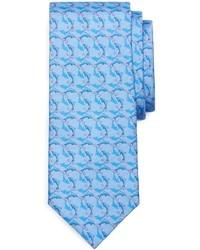 hellblaue bedruckte Krawatte