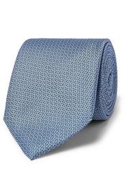 hellblaue bedruckte Krawatte von Canali