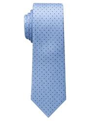 hellblaue bedruckte Krawatte von Eterna
