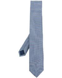 hellblaue bedruckte Krawatte von Salvatore Ferragamo