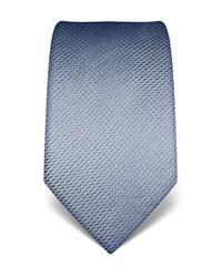 hellblaue bedruckte Krawatte von Vincenzo Boretti
