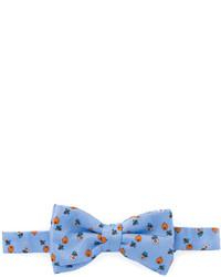 hellblaue bedruckte Seidefliege von fe-fe