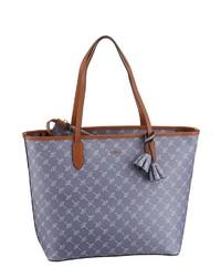 hellblaue bedruckte Shopper Tasche aus Leder von Joop!