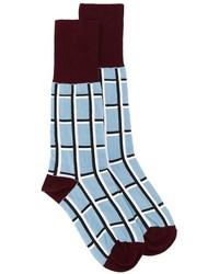 hellblaue bedruckte Socken von Marni