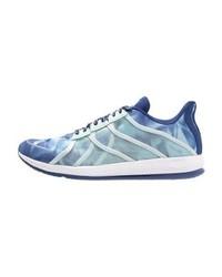 Hellblaue bedruckte Sportschuhe von adidas