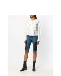 hellblaue Bermuda-Shorts mit Flicken von Chloé