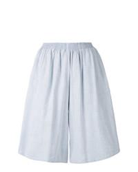hellblaue Bermuda-Shorts von MM6 MAISON MARGIELA