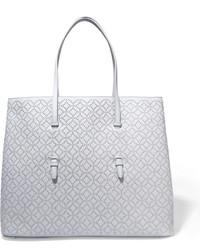 hellblaue beschlagene Shopper Tasche aus Leder von Alaia