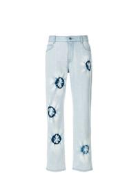 hellblaue bestickte Jeans von Stella McCartney
