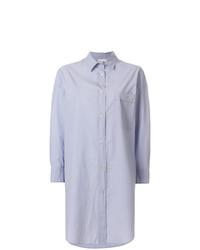 hellblaue Bluse mit Knöpfen von Forte Forte