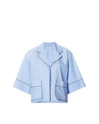 hellblaue Bluse mit Knöpfen von Misha Nonoo