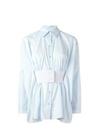 hellblaue Bluse mit Knöpfen von MM6 MAISON MARGIELA