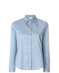 hellblaue Bluse mit Knöpfen von RED Valentino
