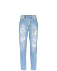 hellblaue Boyfriend Jeans mit Destroyed-Effekten von Amapô