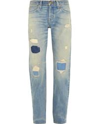 hellblaue Boyfriend Jeans mit Destroyed-Effekten von J.Crew