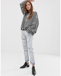 hellblaue Boyfriend Jeans mit Destroyed-Effekten von One Teaspoon