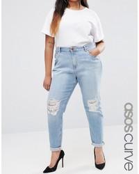 hellblaue Boyfriend Jeans von Asos
